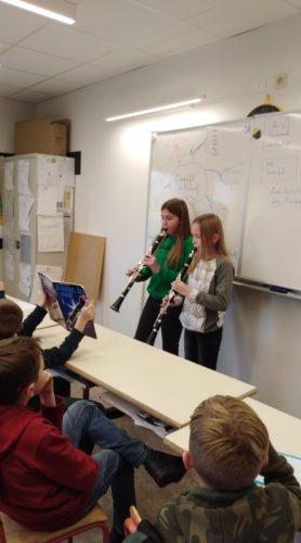 Démonstration de clarinette par Isaure Goffette et Léa Cravatte !